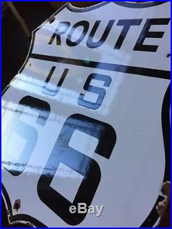 9 PIECE COLLECTION OF PORCELAIN ROUTE 66 Road Signs. Instant Collection. 12x12