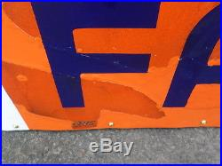 Allis Chalmers Porcelain Neon Double Sided Sign Rare Rare Rare