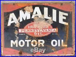 Amalie Motor Oil Porcelain Sign