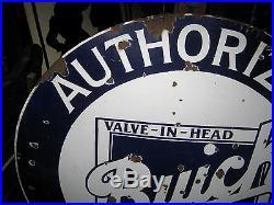 Antique Lg. Buick Dealership Service Valve Head Car Oil Gas Tool Porcelain Sign