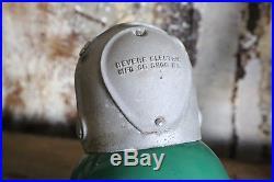 Antique Revere Harp Green Porcelain Gas Station Pole Light Shade Sinclair Old