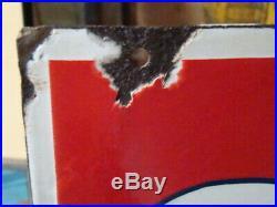 Antique Sohio Ethyl Gas Station Porcelain Sign Original oil Service Advertising