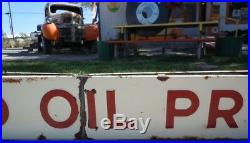 Antique Vintage Porcelain Standard Oil Products Sign Two sided