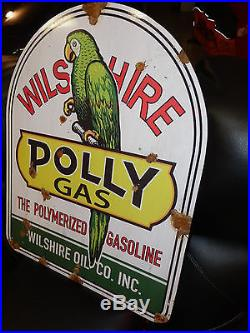 Antique style porcelain look Polly gas Service station pump large dealer sign
