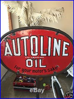 Autoline porcelain sign