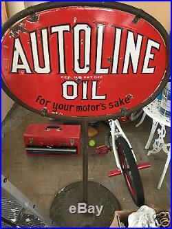 Autoline porcelain sign