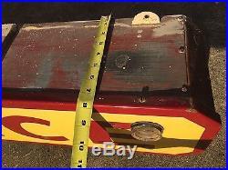 BIG 44 Original 1930s Porcelain Neon Office Sign Gas Oil Auto Antique Vtg Rare
