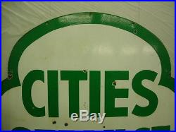 Cities Service Porcelain Double Sided Sign