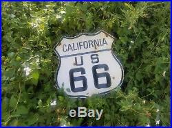 California Route 66 vintage Steel porcelain road sign