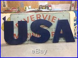 Chevron SSP Porcelain Embossed 5' x 3' Sign Signs Gas Oil Mancave Standard