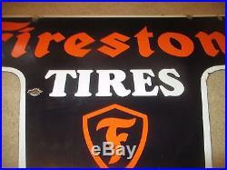 DSP Firestone Tires Service Station Porcelain Sign GAS Station OIL