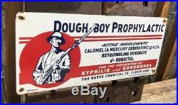Dough-boy Prophylactic Porcelain Metal Sign Gas Health Syphilis Reese Chemical