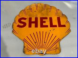 Dual Sided 4ft Porcelain Shell Gas Sign