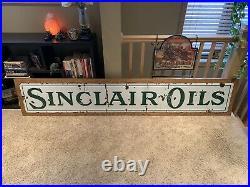 EARLY Sinclair Oils Porcelain Sign