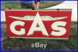 Early Flying A Gas Station Porcelain Sign Chicken Wing GAS Station Non Neon