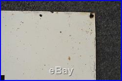Early rare size porcelain enamel Texaco oil gas well lease sign with logo