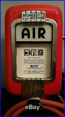 Eco Air Meter Tire Inflator Porcelain sign oil and gas