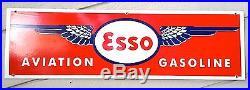 Esso Aviation Airplane Aircraft Humble Gas Oil Porcelain Sign Vintage ConceptsVC