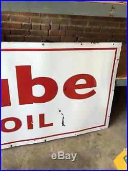 Essolube Oil Porcelain Sign Standard Gas Service Station Large 8 Esso