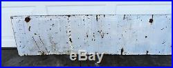 Extremely Rare Sinclair Oil Porcelain Steel Sign Burdick Consumers Co 8' X 15