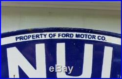 Ford Genuine Parts Porcelain Sign Double Sided Chicago