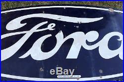 Ford Motor Company Original Porcelain Advertising Sign Gas Oil Americana