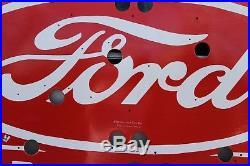 Ford Tractor Dealer Porcelain Neon Sign Skin Gas Oil Car 66 Bar Dog Train