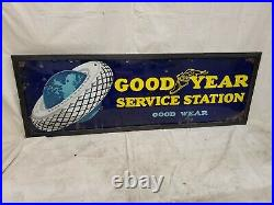 Good Year Service Station Porcelain Rare Gas Oil Vintage Collectable