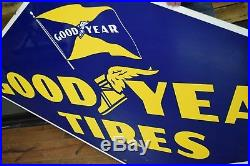 Goodyear Porcelain Sign sign Beautiful Condition Gas Station Oil Service Garage