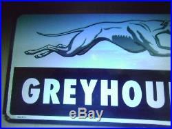 Greyhound Bus Station Adv. Porcelain sign -Heavy Big Sign
