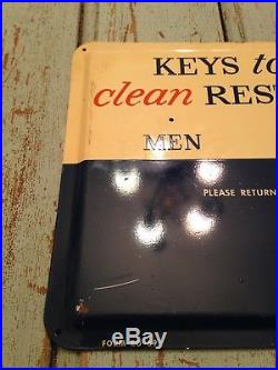 Gulf Sign Non Porcelain Metal Restroom Sign 1957 Oil Gas Can Service Station