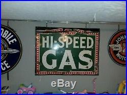 HI-SPEED GAS Single-sided Porcelain Sign-up huge 7ftx5ft