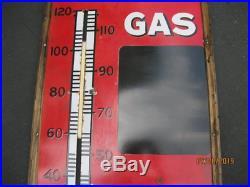 HUGE Standard Oil Polarine Thermometer Gas Pricer Sign Porcelain Sign