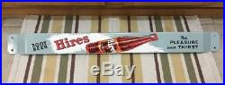 Hires Door Push Porcelain Sign Soda Root Beer Country Decor Vintage Gas Oil