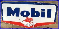 Huge! 1959 Pegasus Mobil Porcelain & Metal Gas & Oil Service Station Sign 101x51