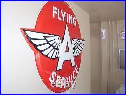 Huge Flying''a'' Service Porcelain Advertising Sign'' Original'' Large-size