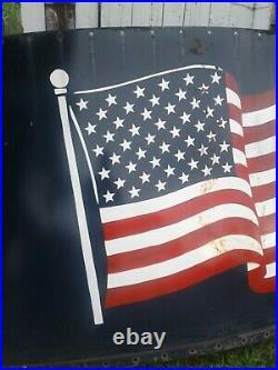 Huge Porcelain American Flag Silo Sign