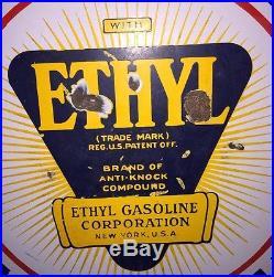 Independent Ethyl 30 Lolipop Porcelain Sign DSP Phillips Gasoline Oil Tulsa, OK