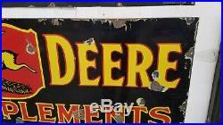 John deere porcelain sign original tractor Collectable gas oil
