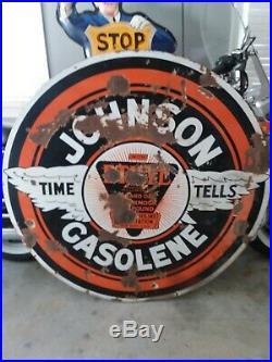 Johnson 48 Porcelain Sign Original gas & oil sign porcelain sign