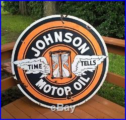 Johnson Gasoline Porcelain Sign 48 Inch