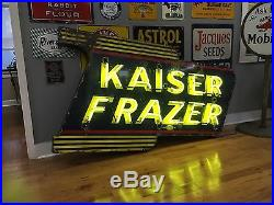 Kaiser Frazier Porcelain Neon Sign
