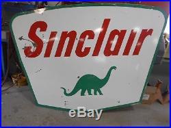 LARGE PORCELAIN GAS SIGN Sinclair porcelain gas sign, original 5' X 7