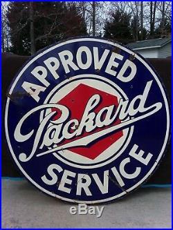 Large 5ft Packard original dealership sign 100% ORIGINAL GAS oil porcelain sign