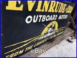 Large Evinrude Outboard Motor Porcelain Sign