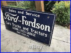 Large Ford Dealer Porcelain Sign