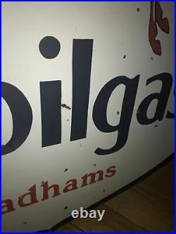 Large Mabilgas Double Sided Porcelain Sign