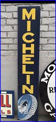 Large Michelin Porcelain Sign 48 X 9