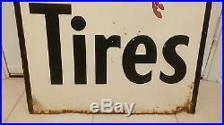 Large Mobil Tires Porcelain Embossed Pegasus Sign