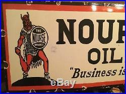 Large Nourse Motor Oil Porcelain Sign